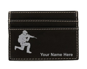 Light Infantry Bus /& Train Pass Wallet ID Holder In Black Leather Military Gift ME38