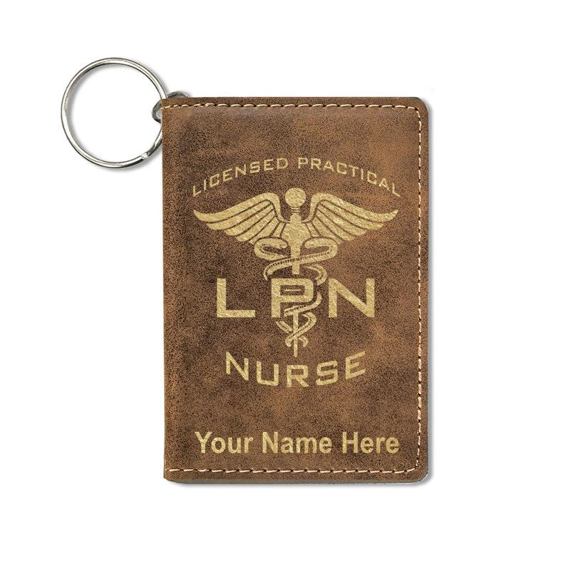 LPN Licensed Practical Nurse ID Holder Wallet Personalized Engraving Included