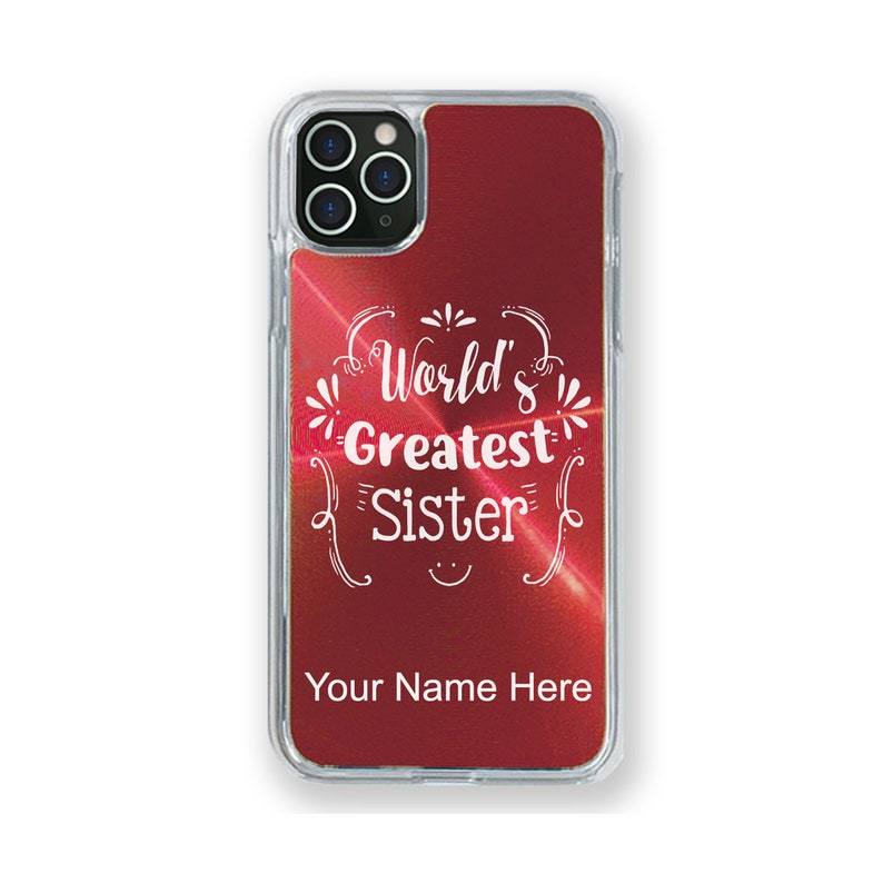 11 Pro Case Compatible with iPhone 11 World/'s Greatest Sister Personalized Engraving Included 11 Pro Max
