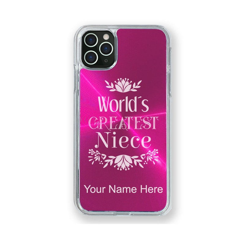World/'s Greatest Niece Case Compatible with iPhone 11 11 Pro Max 11 Pro Personalized Engraving Included