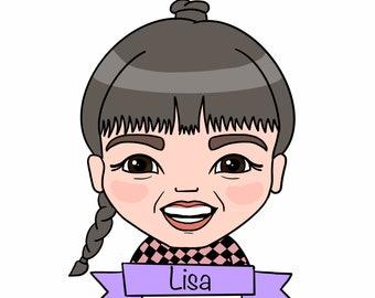 Custom digital portrait, cute portrait, caricature
