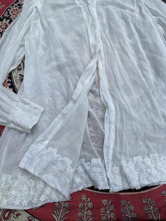 Antique Edwardian blouse, white batiste, 1910's t… - image 4