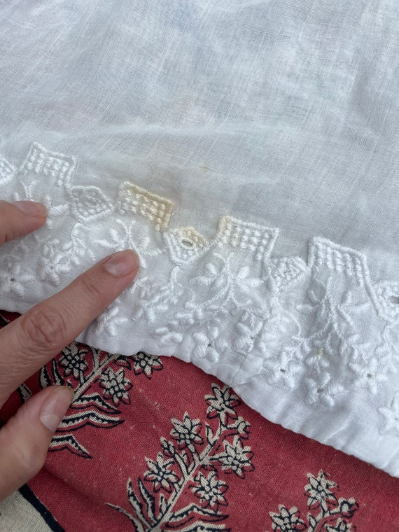 Antique Edwardian blouse, white batiste, 1910's t… - image 9
