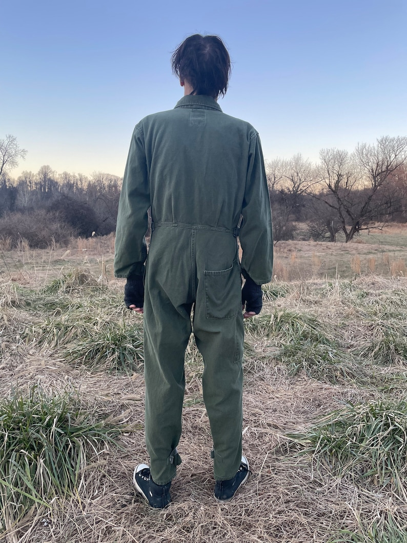 M military chore wear VIntage US ARMY cotton sateen coveralls