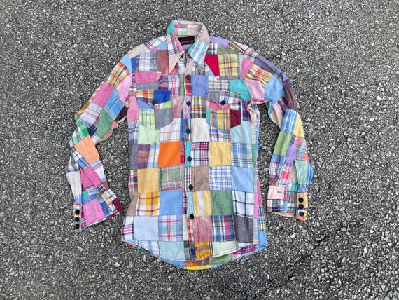 Vintage 1970's Indian madras patchwork shirt | '70
