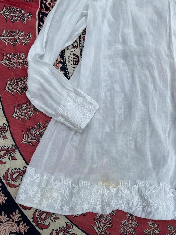 Antique Edwardian blouse, white batiste, 1910's t… - image 5