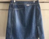 Vintage Calvin Klein Jean Skirt, Vintage 90 39 s Jean Skirt, Vintage Jean Skirt, Vintage Above the Knee Jean Skirt, Vintage Jean Skirt Size Med