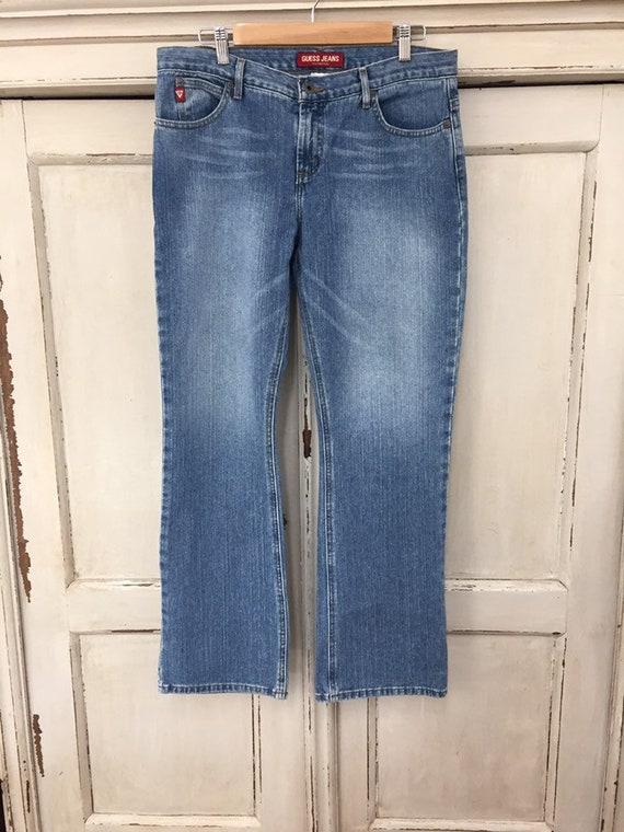 Vintage Guess Jeans Distressed Light Wash Denim, V
