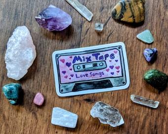 Love Songs Mix Tape Sticker