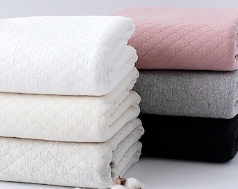 Cloud - Quilted Cotton Knit Fabric by the yard 6 colors Cotton Knit 100% made in Korea 145cm wide