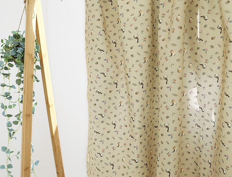20s Oxford Cotton Fabric by the yard Digital Printed Cotton made in Korea 147cm wide Sparrows