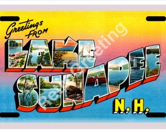 Greetings From Hampton Beach Nh Standard Size Metal License Plate 12 X 6