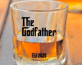 Personalised Engraved Whisky Glass THE GODFATHER CHRISTENING Gift
