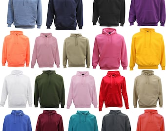 Adult Unisex Men's Plain Basic Pullover Hoodie Sweater Sweatshirt Jumper Xs-6xl