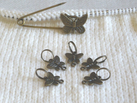 Butterfly charms Butterfly markers Butterfly progress keepers Butterfly stitch markers stitch  markers progress keepers crochet marker
