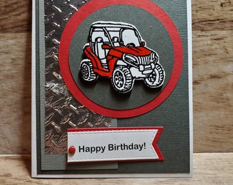 Personalised QuadATV Birthday Card