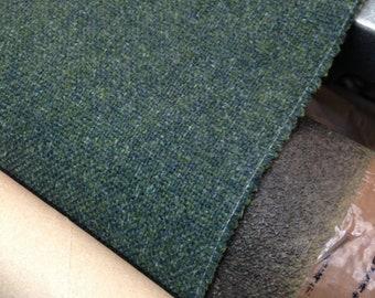 Premium Ocean Blue Herringbone Tweed Wool Effect Fabric Upholstery Cushion Craft