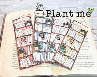 Plant Me! Plantable 4 color reading log bookmark