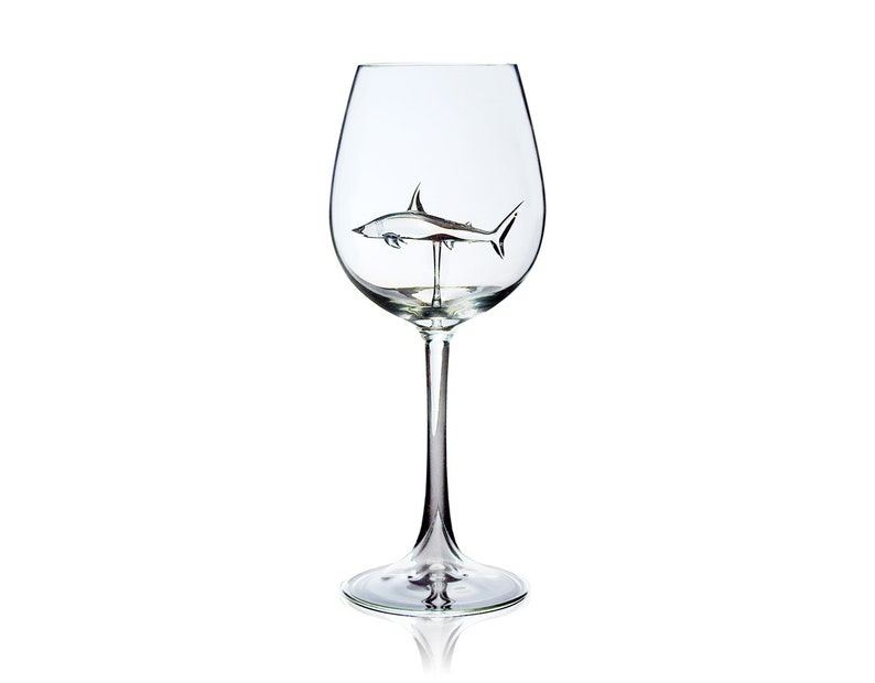 Shark Wine Glass E-version 2 wine glasses as a set image 0