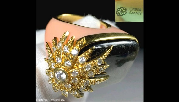 Cristina Sabatini 14k on Sterling Silver Pink Luci