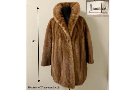 Vintage Canadian Real Fur MINK Coat Woman's Herman