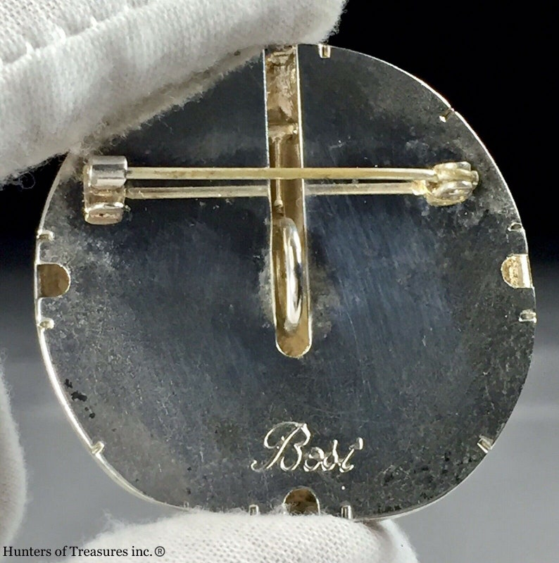Vintage Silver Tone Metal BOST Starfish C Clasp Brooch 1960\u2019s 70\u2019s