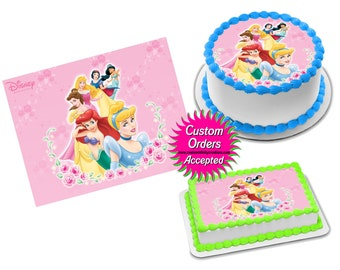 Nella the Princess Knight x 13 stand up cup cake toppers wafer paper *pre-cut*
