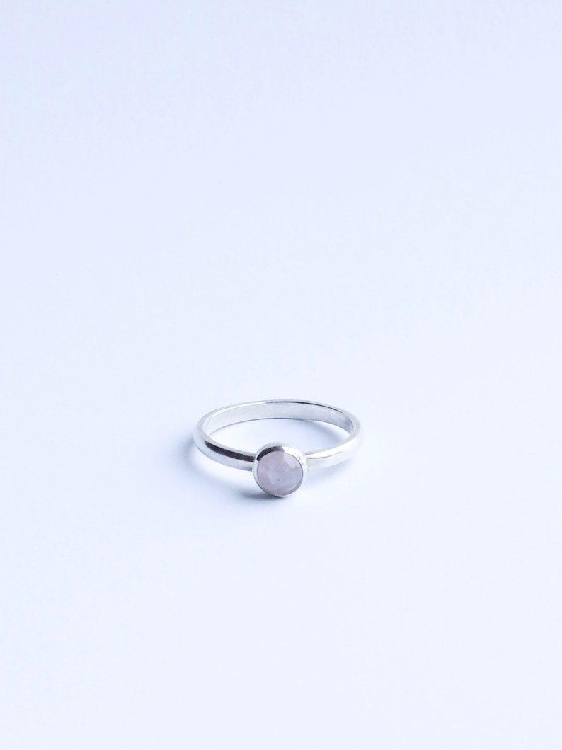 The Sweets  Sterling Silver Rose Quartz stackable ring image 0