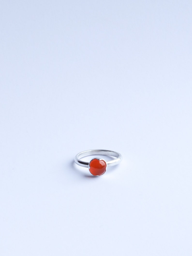 Apricot Crown  Sterling Silver & Carnelian ring with image 0
