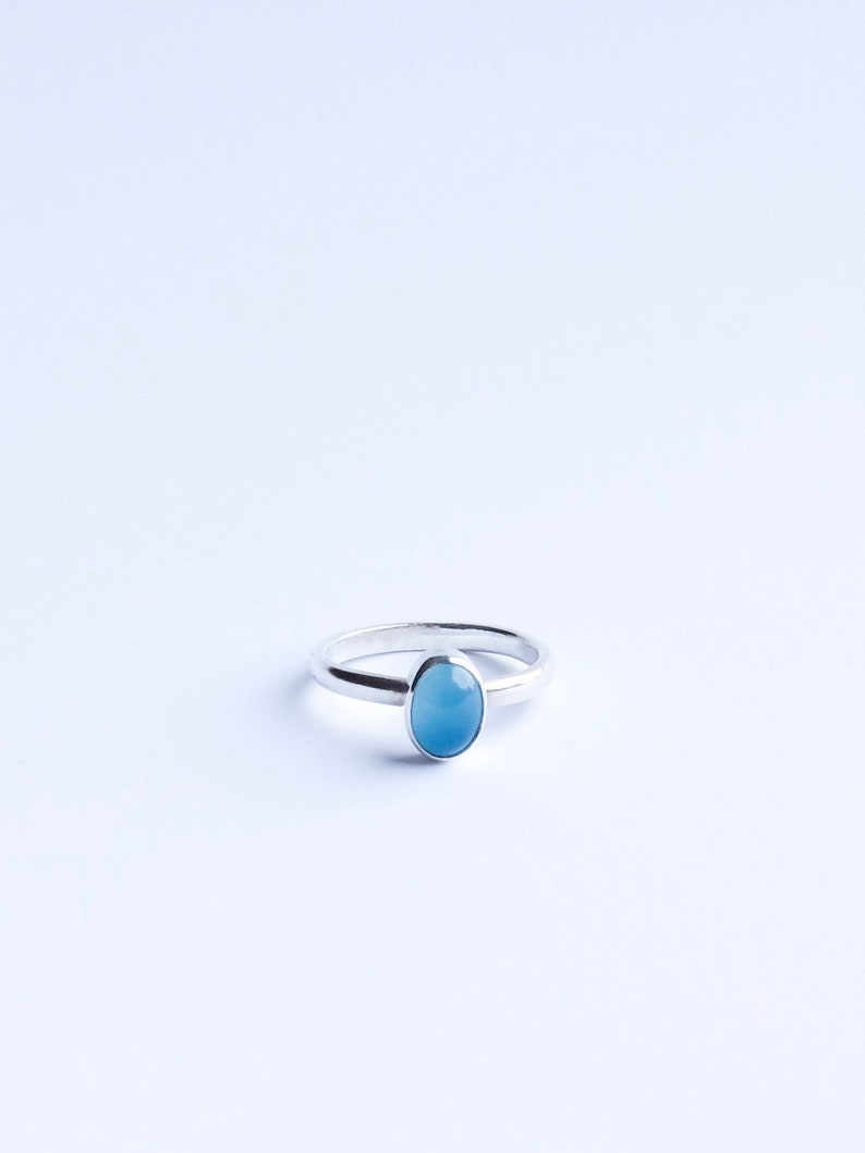 The Sweets  Sterling Silver Blue Chalcedony stackable ring image 0
