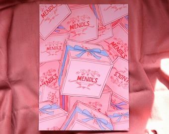 Mendl's Boxes Art Print, A4