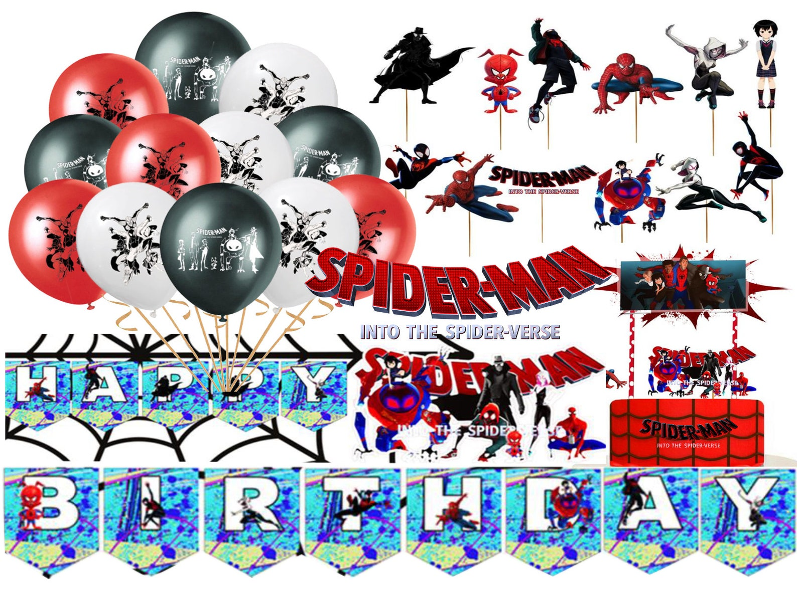 Spiderman Party Bundles for 6 Guests