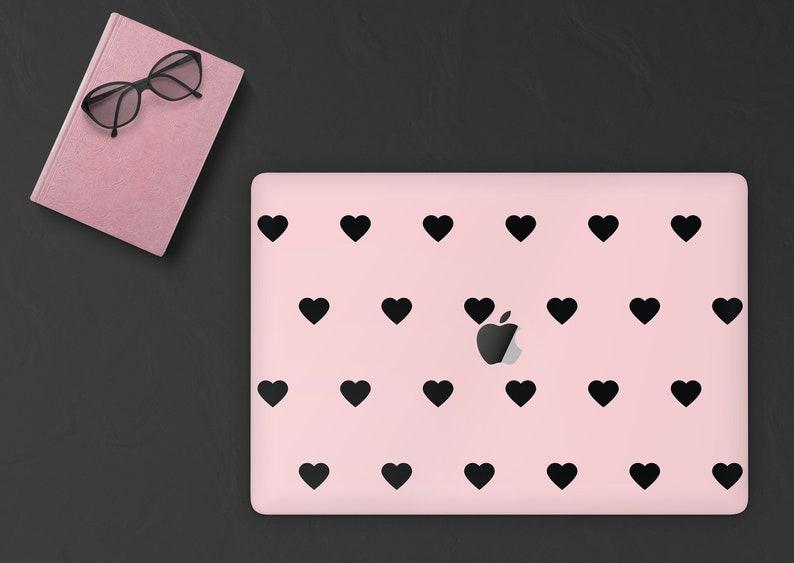 MacBook Skin Heart Pattern MacBook Pro 16 skin Macbook Decal Laptop Skin Pink Hearts MacBook Pro Decal MacBook Air Decal Skin 025