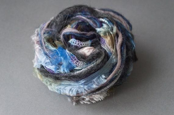 Yarn art bundle 12 m 13 yd Green and gray tone mix Mixed fibers
