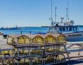 Lobster Fishing – Fine Art Print, North Rustico, PEI, Fishing Town, fishing boat, lobster, lobster trap,sea breeze