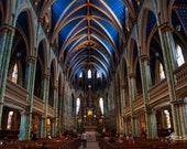 Notre-Dame Cathedral, Ottawa, Beautiful Interior – Fine Art Print, Notre-Dame, Cathedral, Beauty, Ottawa