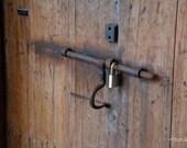 Locked Door - Door Latch to Ammunition Storage Room at Castillo De San Cristobal, Old San Juan, Puerto Rico - fine art, Travel Photography,