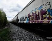 Train Art – Canadian Pacific, CP Rail, Freight Train, Rail Car, Train, Trains, Railway