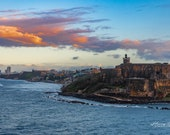 San Juan, Puerto Rico – Castillo San Felippe Del Morrow at Sunset.