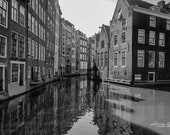 Living on the Canal in Amsterdam, Netherlands – Fine Art Photography, Amsterdam, Netherlands, NL, Canal, Boat, House