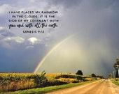 Rainbow Promise – Genesis 9:13, Fine Art Print, Rainbow, Promise, Flood