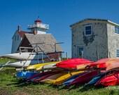 Fun Fishing Boats – Fine Art Print, North Rustico, PEI, Landscape Photography, Sea Kayak, Lighthouse, Fishing Town