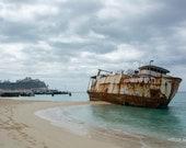 Old vs New – Shipwreck, Cruise Ship, Royal Princess, Hurricane, Hurricane Damage, Beach, Beached