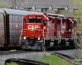 Train Bound for Somewhere – Canadian Pacific, CP Rail, Freight Train, Train, Trains, Railway