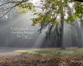 Seeing Through the Fog | Fine Art Print, landscape photography, words of comfort