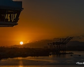 Sunrise in San Juan, Puerto Rico – A Silhouette of the Bridge Aboard the Royal Princess As We Were Docking.