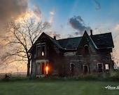 Abandoned Sunset – Abandoned Home, Sunset, Neglect, Deteriorated, Abandoned Places, Abandoned Places Art