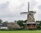 Windmill in Friesland, Netherlands – Fine Art Photography, Windmill, Friesland, Netherlands, NL, Grain Windmill