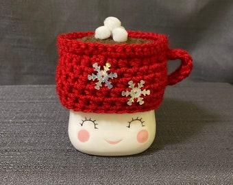 Marshmallow mug hat hot cocoa cup