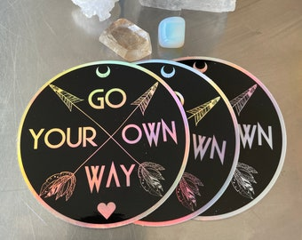 Fleetwood Mac Go Your Own Way Holographic Sticker